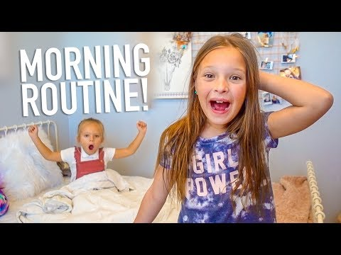 OLIVIA'S SCHOOL MORNING ROUTINE!