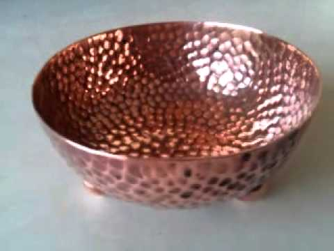 charming little hand hammered arts u0026 crafts copper bowl on ball feet c1905 youtube