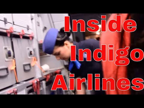 Inside Indigo Airlines in Delhi