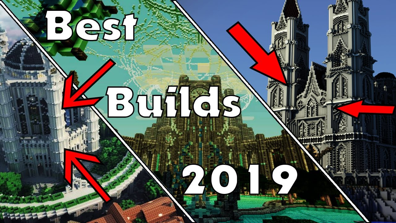 Top 15 MINECRAFT BUILDS of 2019!