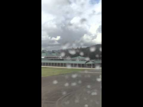 Cruising Past Hewanorra International Airport Terminal, St. Lucia;