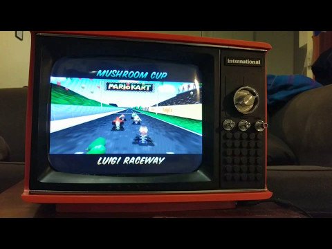 This old portable TV is actually a Raspberry Pi-powered retro gaming system