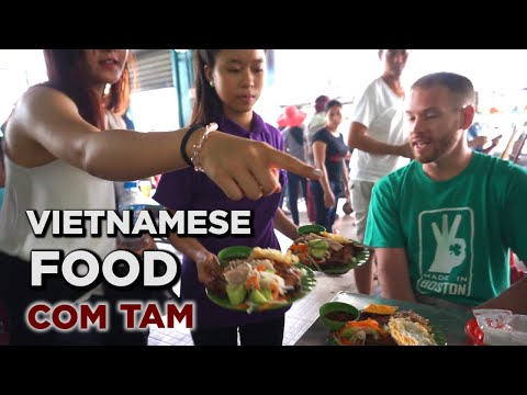 Bizarre Foods TV Show: Behind The Scenes Eating Vietnamese Food For Travel Channel Series (Cơm tấm)