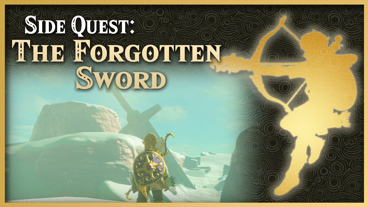 Zelda Breath Of The Wild U2022 The Forgotten Sword U2022 Wasteland Side Quest