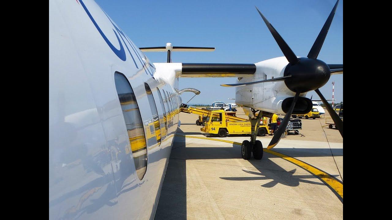 Full Flight Ou674 Croatia Airlines Dash8 Q400 9a Cqe Zagreb To Pula Via Zadar Youtube