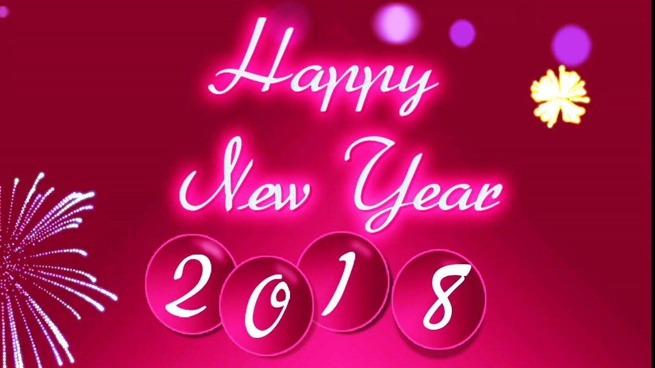 Happy New Year 2018 Wishes Animated Video Greeting Card For Whatsapp