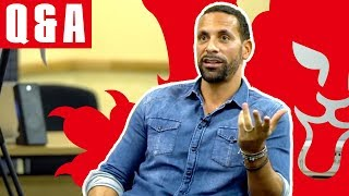 Rio Ferdinand Gives Amazing World Cup Advice | Q&A with England U16s | Inside Access
