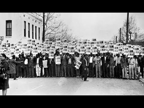 The Memphis sanitation strike, 1968
