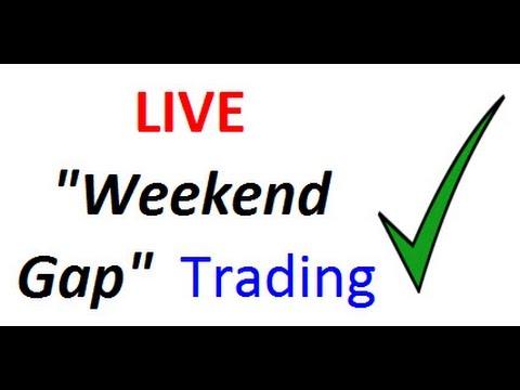Video Showing Forex Weekend Gap Trades In Progress