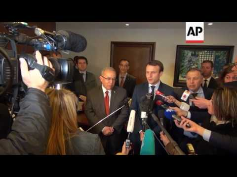 French presidential candidate Macron visits Algeria