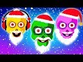 Learn Colors With Santa Funny Faces | Nursery Rhymes For Children | Fun With Teehee Town