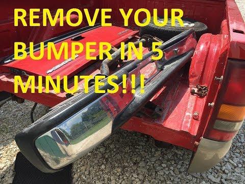 HOW TO REMOVE THE REAR BUMPER THE EASY WAY!!! 1999 - 2006 Chevrolet Silverado