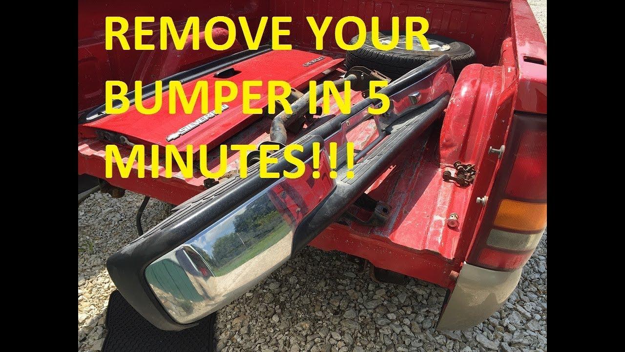 2000 Chevrolet Silverado 1500 >> HOW TO REMOVE THE REAR BUMPER THE EASY WAY!!! 1999 - 2006 ...