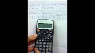 Sharp calculator - standard deviation and mean of data