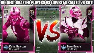 HIGHEST DRAFTED VS LOWEST DRAFTED CHALLENGE VS RBT! NFL DRAFT CHALLENGE! | MADDEN 19 ULTIMATE TEAM