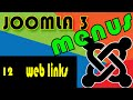 Joomla 3 Tutorials: Meuns, The weblinks