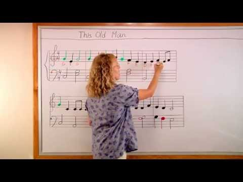 """Learn the notes for the children's song """"This Old Man"""""""