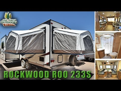 Hybrid Expandable RV 2018 FOREST RIVER ROCKWOOD ROO 233S Pop Out Colorado Camper