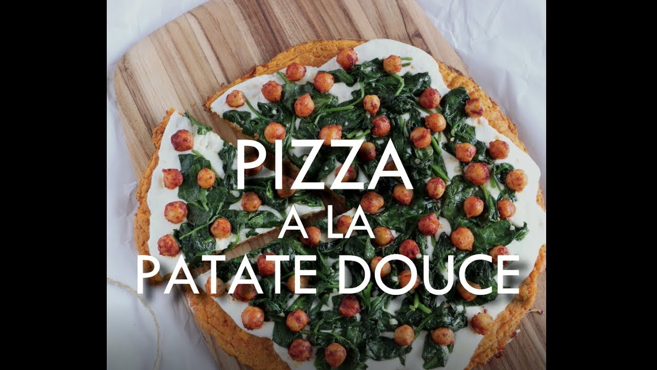 Pizza veggie à la patate douce (sans gluten) - YouTube