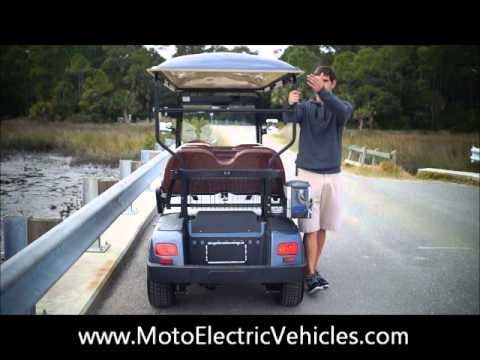 Four Passenger Street Legal Golf Cart- Moto Electric Vehicles