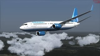 FSX  PMDG737-800  - Победа, сложный полёт в Таллин с уходом на 2 круг