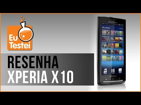 Xperia X10 Sony Ericsson Smartphone - Vídeo Resenha EuTestei Brasil