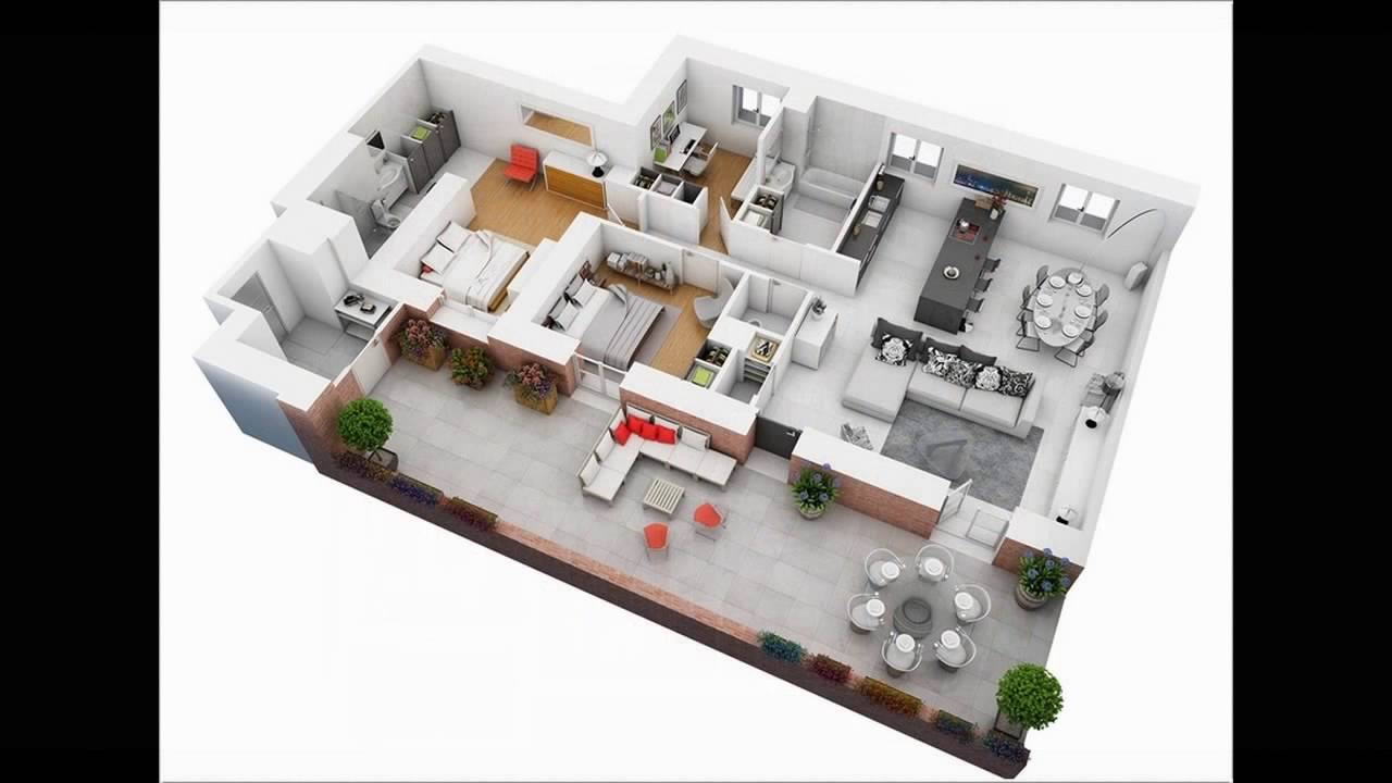 Marvelous 4 Bedroom Apartment House Plans   YouTube