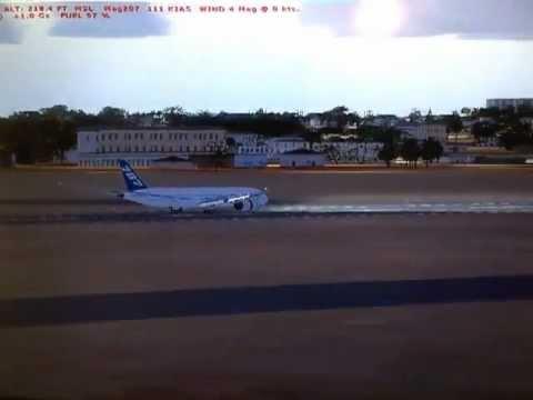 [FSX] Boeing 787 long flare and landing Kotoka International Airport, Accra, DGAA