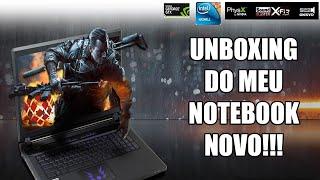 UNBOXING do meu notebook novo!!! (PORRADÃO)