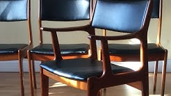 How to re upholster the backs of Danish Midcentury Modern Teak Dining Chairs