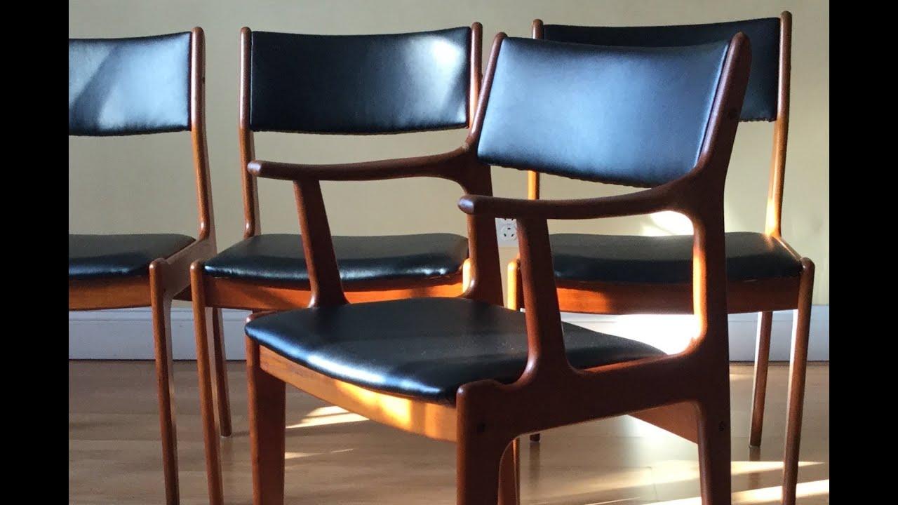 How to re upholster the backs of Danish Midcentury Modern ...