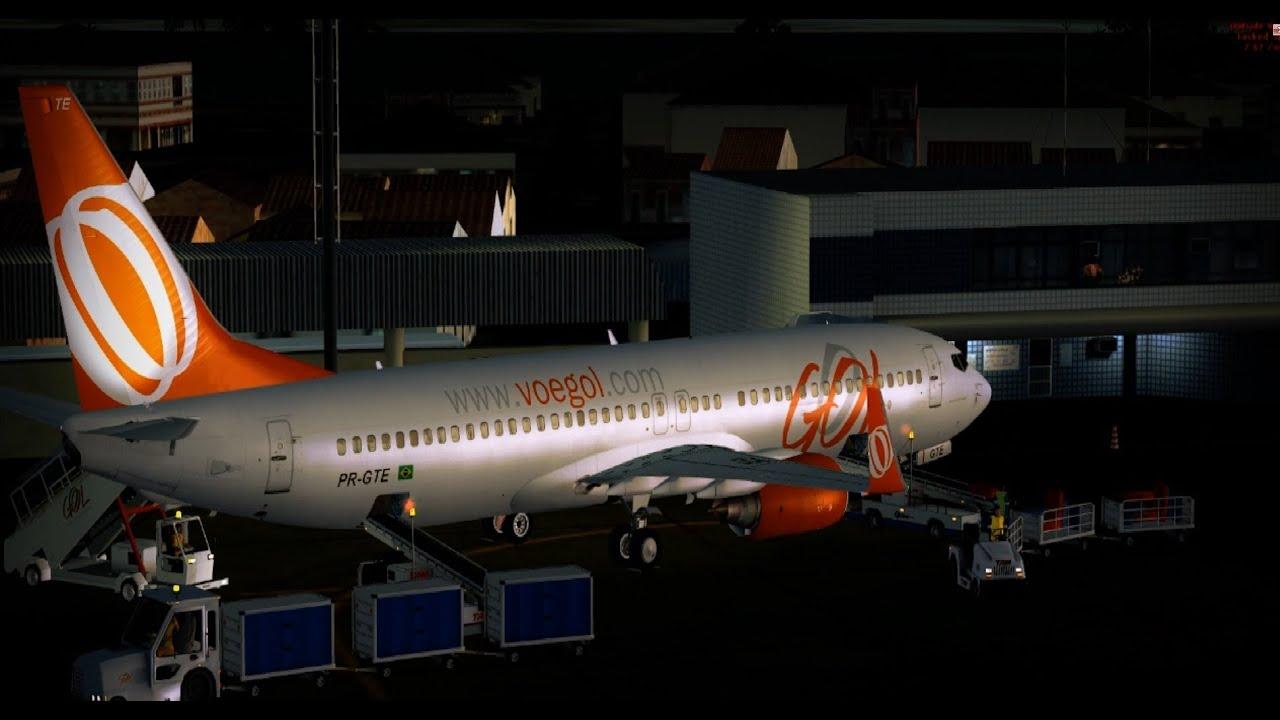 [FSX] GOL PR-GTE 737-800 NGX SFP + GSX + FS2Crew + REX Ess