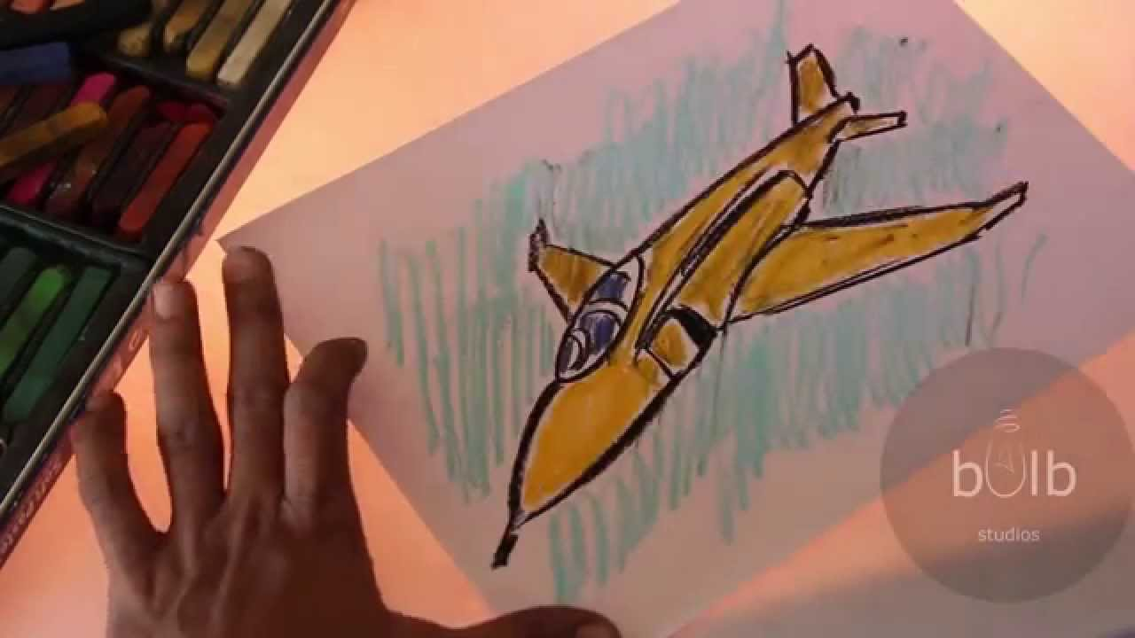 how to draw a jet plane scribble for kids youtube