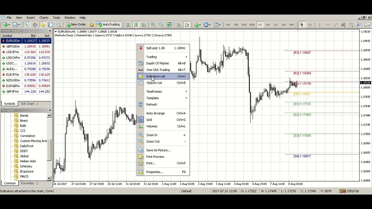 Daily Pivot Point Support And Resistance V5 0 Youtube
