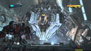 Transformers: War for Cybertron / defeating Trypticon (including Credits) (HD)