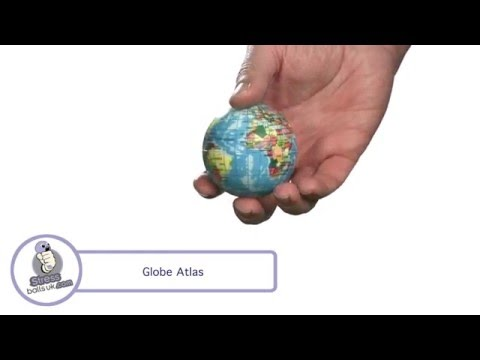 Atlas Globe Shaped Stress Ball