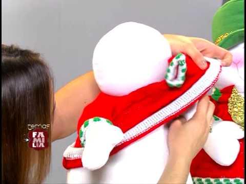 muecos de navidad en tela