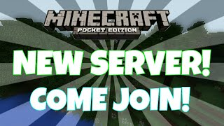 NEW SERVER! FINALLY! | MCPE Servers (My newest and updated server!)