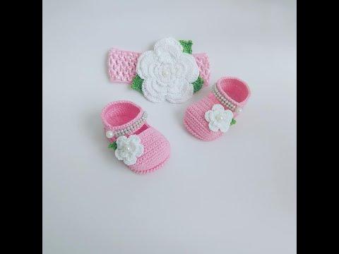 Zapatito Tejido  A Crochet -Modelo Teresa -3 A 6 Meses