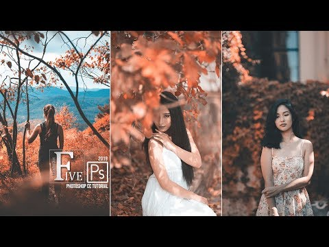 Photoshop Tutorial : Autumn Color Effects Photoshop Action Free Download NOW!