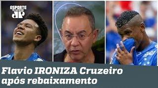 """Cruzeiro é rebaixado, e Flavio Prado IRONIZA: """"PARABÉNS!"""""""