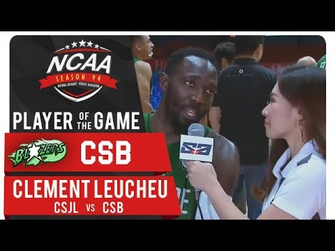 NCAA 94 MB: Clement Leutcheu drops 19 pts to earn PoG as CSB wins - CSJL vs. CSB - October 23, 2018 - 동영상