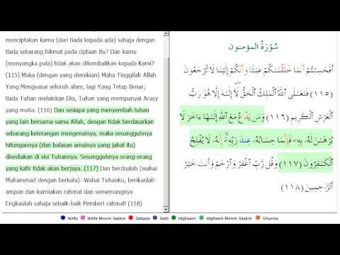 AL-MUKMINUN AYAT 115-118