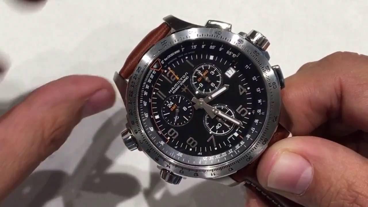 64b3780709a Hamilton Khaki X-Wind GMT Quartz - H77912535 - YouTube