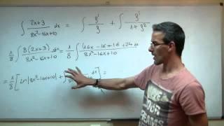 Integral tipo Logaritmo neperiano + arcotangente 2ºBACHI unicoos matematicas