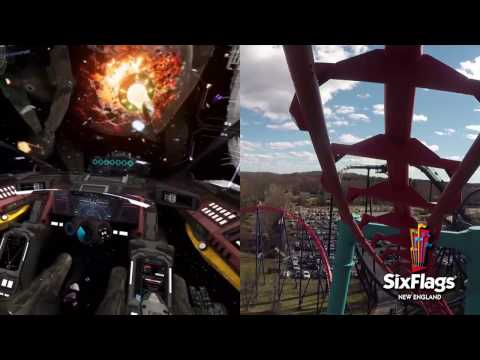 Galactic Attack Virtual Reality Coaster Mind Eraser Split Screen Six Flags New England