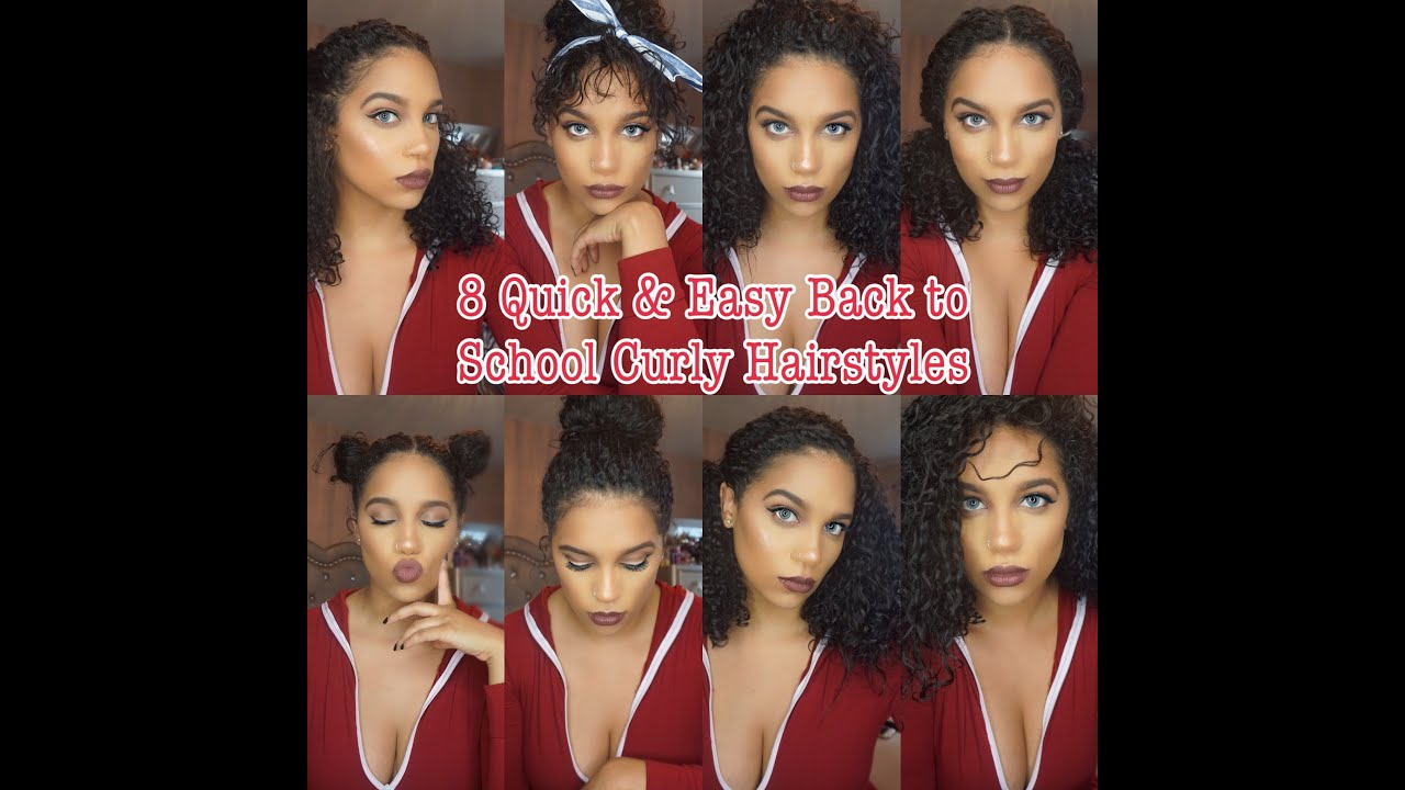 8 Curly HairStyles Curly Hair Routine Quick & Easy
