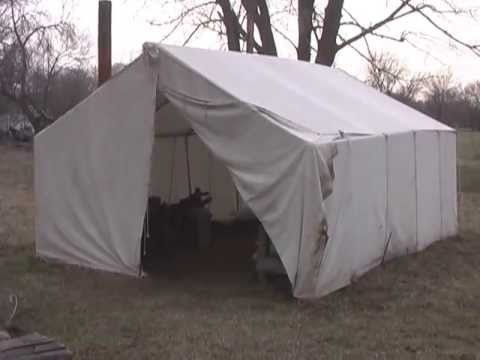 Period Correct Canvas Tent & Period Correct Canvas Tent - YouTube