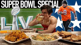 Becoming an NFL PLAYER FOR A DAY  Draft Combine Events + Healthy Super Bowl Recipes