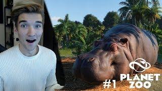 NIEUWE SERIE! DE OPENING VAN MIJN EIGEN DIERENTUIN! - Planet Zoo #1